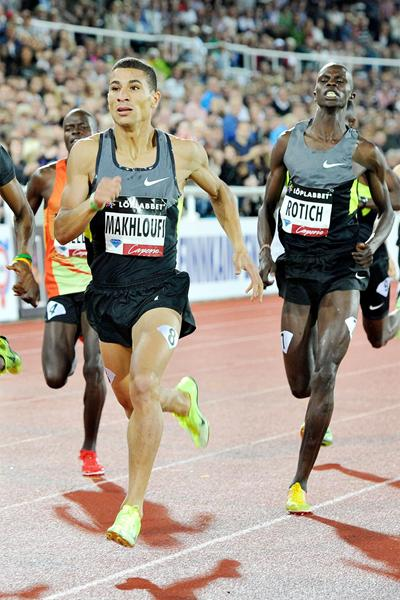 Taoufik Makhloufi in action at the Stockholm Diamond League (Anders Sjogren)