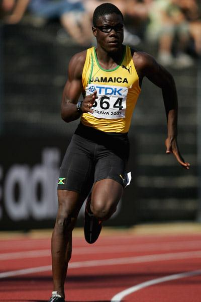 Ramone McKenzie of Jamaica in action in the 200m (Getty Images)