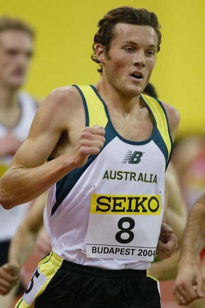 Craig Mottram of Australia in action in the men's 3000m (Getty Images)