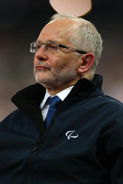 Sir Philip Craven at the London 2012 Paralympic Games athleteics events (Getty Images)