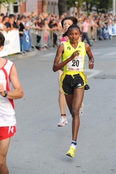 Lucia Kimani (BiH) running in Brcko, Bosnia and Herzegovina (Organisers)