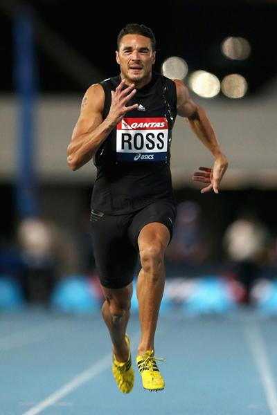 Joshua Ross, winner of the 100m in Melbourne (Getty Images)
