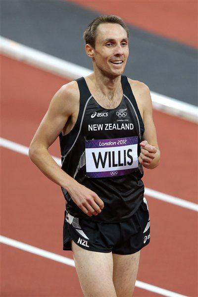 Nicholas Willis of New Zealand smiles after competing in the Men's 1500m Round 1 Heats on Day 7 of the London 2012 Olympic Games at Olympic Stadium on August 3, 2012 (Getty Images)