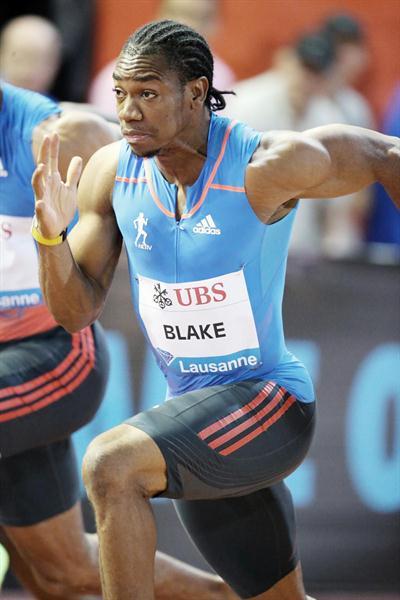 Yohan Blake en route to a 9.69 PB in Lausanne (Gladys Chai van der Laage)