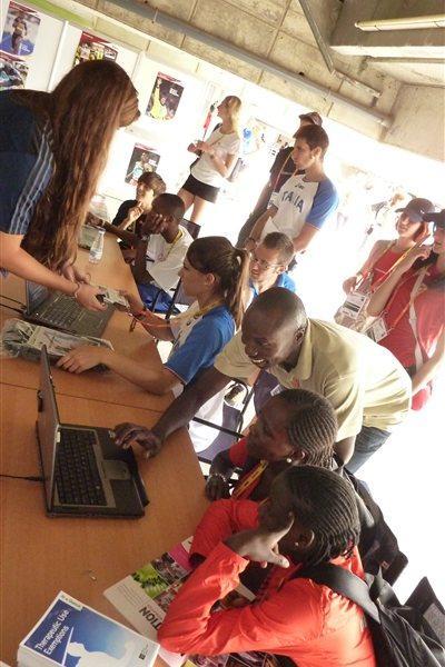IAAF Ambassador Wilson Kipketer at the IAAF Outreach Anti-Doping Programme in Barcelona (IAAF)