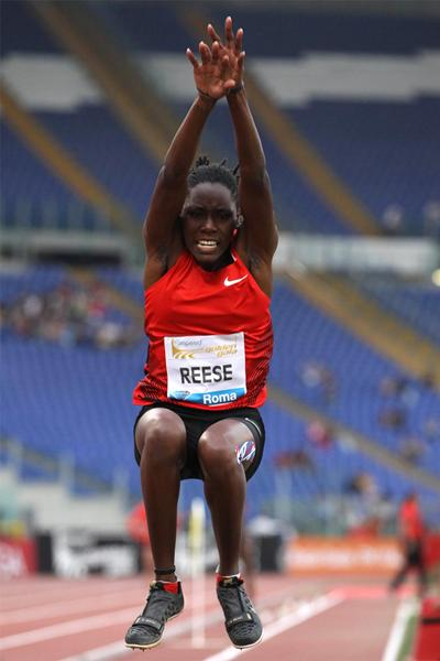 Brittney Reese wins the Long Jump in Rome (Giancarlo Colombo)