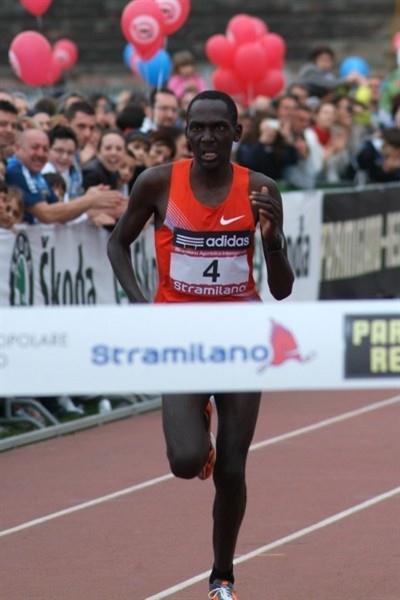 Matthew Kisorio wins the 40th Stramilano Half Marathon (Lorenzo Sampaolo)