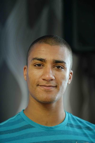 Ashton Eaton ahead of the 2014 Diamond League meeting in Glasgow (Jiro Mochizuki)