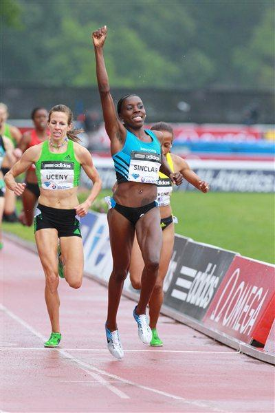 Kenia Sinclair takes a surprise 1500m victory in New York (Victah Sailer)