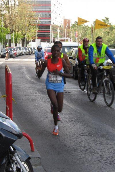 Margaret Agai en route to her Madrid victory (Mareas)