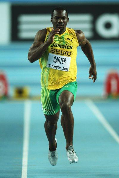 Nesta Carter of Jamaica competes in the men's 60m at the IAAF World Indoor Championships in Istanbul (Getty Images)