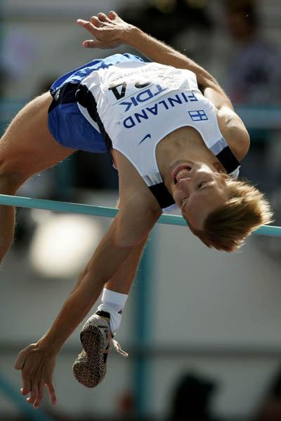 Oskari Frosen of Finland qualifies for the High Jump final (Getty Images)