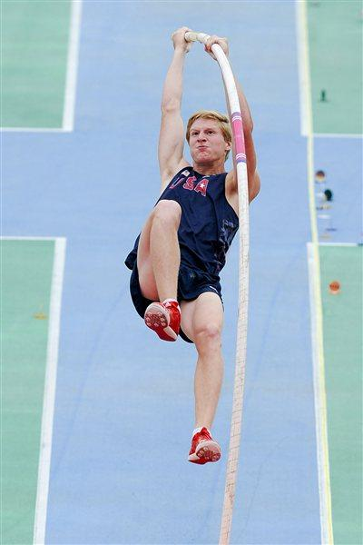 Casey Bowen of United States competes during the Men's Pole Vault qualification round on the day one of the 14th IAAF World Junior Championships in Barcelona (Getty Images)