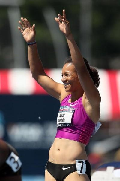 Hyleas Fountain after winning the Heptathlon at the 2010 USATF Nationals (Getty Images)