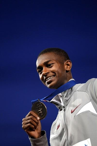 Mutaz Essa Barshim of Qatar with his High Jump gold medal (Getty Images)