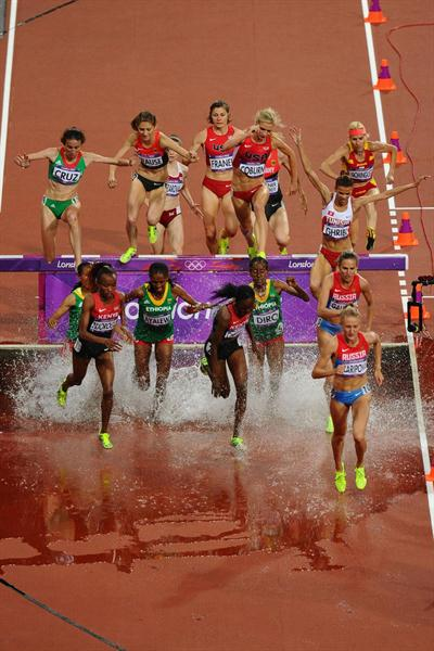 A general view of  the Women's 3000m Steeplechase final on Day 10 of the London 2012 Olympic Games at the Olympic Stadium on August 6, 2012 (Getty Images  )