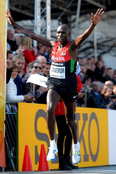 Geoffrey Kipsang Kamworor, winner of the 2014 world half marathon title in Copenhagen (Getty Images)