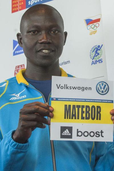Albert Matebor ahead of the 2013 Volkswagen Prague Marathon (Organisers)