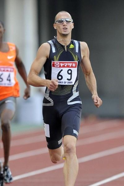 a commanding 44.69 victory for Jeremy Wariner at the Osaka GP (Getty Images/AFP)