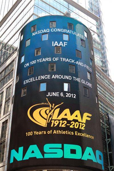 Best wishes to the IAAF from NASDAQ (Victah Sailer)