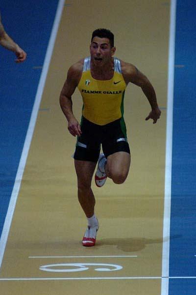 Simone Collio wins the 60m Italian indoor title (Lorenzo Sampaolo)