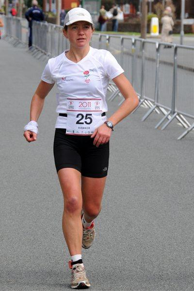 Lizzy Hawker en route to a 24-Hour Run World best in north Wales (CMUDC2011)