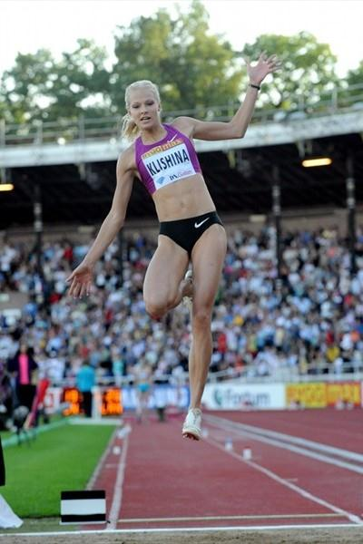 Darya Klishina soars to her first Diamond League victory in Stockholm (Deca Text&Bild)