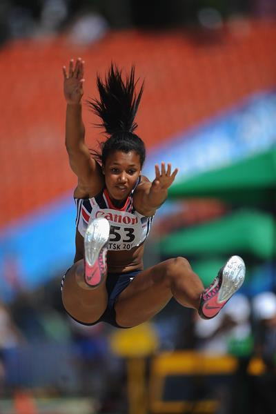 Morgan Lake in the girls' Long Jump Heptathlon at the IAAF World Youth Championships 2013 (Getty Images)