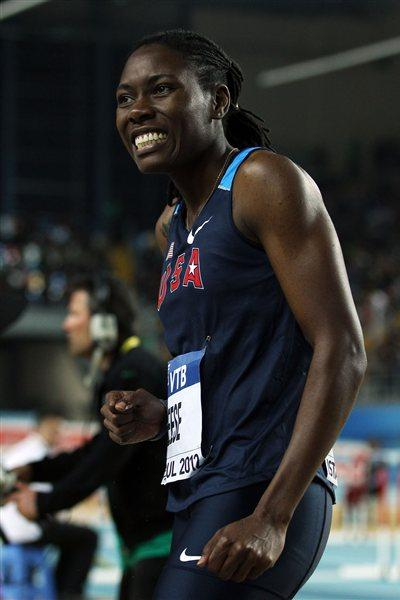Brittney Reese of the United States reacts as she competes in the Women's Long Jump Final during day three - WIC Istanbul (Getty Images)