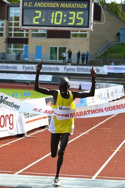 Luka Kipkemboi Chelimo wins in Odense (Michael Hyllested)