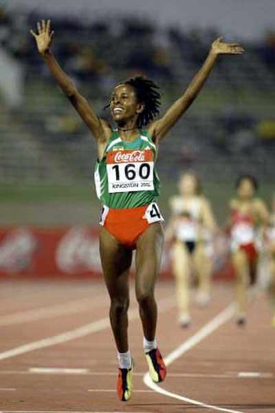 Meseret Defar  (ETH) - double World Junior champion (Getty Images)