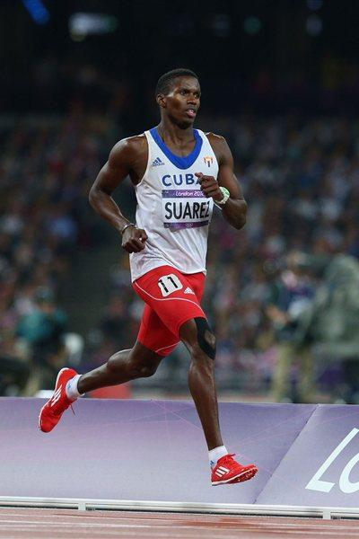 Leonel Suarez of Cuba competes during the Men's Decathlon 1500m on Day 13 of the London 2012 Olympic Games  on August 9, 2012 (Getty Images)
