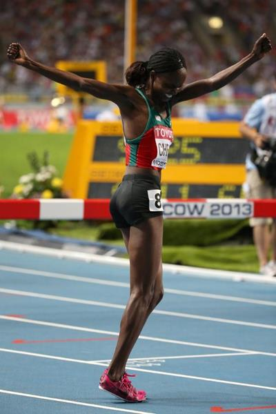 Milcah Cheywa in the womens 3000m SC at the IAAF World Athletics Championships Moscow 2013 (Getty Images)