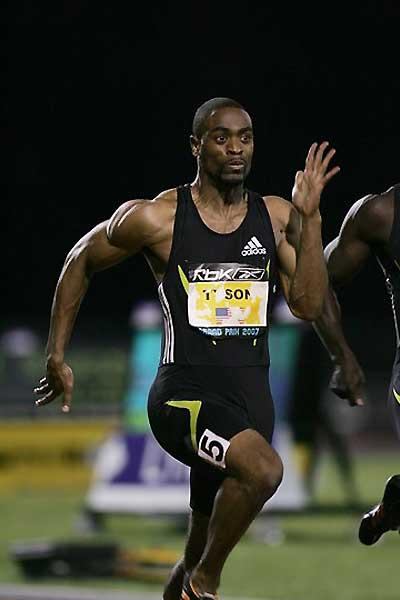 Tyson Gay powers to 9.76w in New York (Victah Sailer)