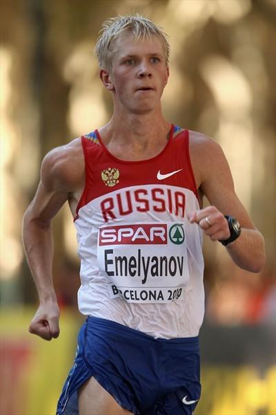 Stanislav Emelyanov cruising towards the European 20Km Race Walk title in Barcelona (Getty Images)