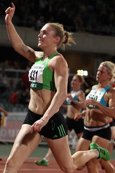 Sally Pearson wins the 100m at the 2011 Australian Champs (Getty Images)