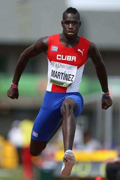 Triple jump winner Lazaro Martinez at the IAAF World Junior Championships, Oregon 2014 (Getty Images)
