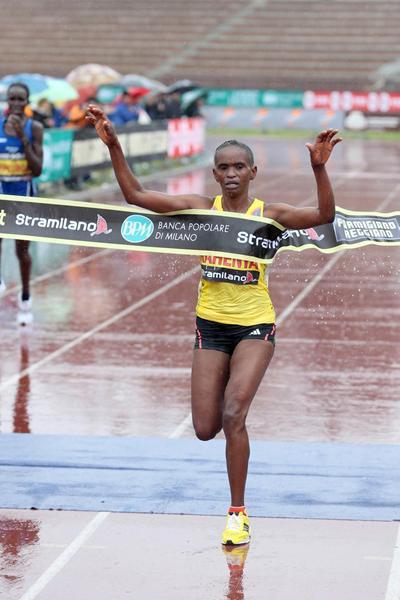 Pauline Kahenya, winner of the women's race in Stramilano (Giancarlo Colombo)