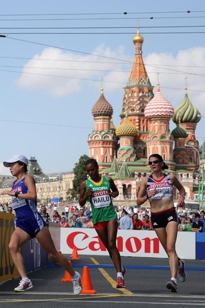 Meselech Melkamu in the women's Marathon at the IAAF World Athletics Championships Moscow 2013 (Getty Images)