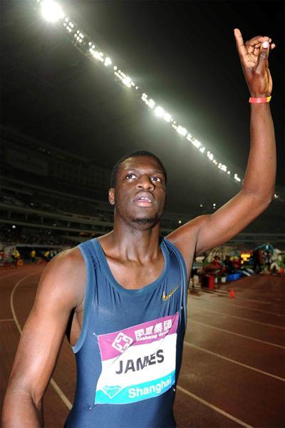 Kirani James after running 44.02 to win the 400m at the Shanghai Diamond League (Jiro Mochizuki)