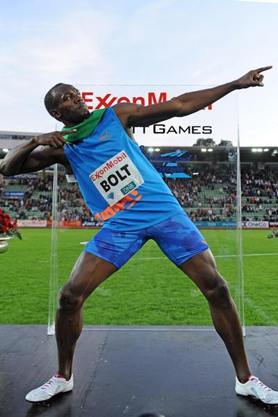 Usain Bolt, victorious at the Oslo Diamond League once more (Mark Shearman)