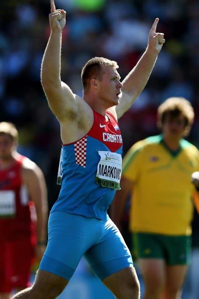 Discus winner Martin Markovic at the IAAF World Junior Championships, Oregon 2014 (Getty Images)
