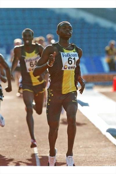 Abubaker Kaki wins the 800m in Malmö (Hasse Sjögren)