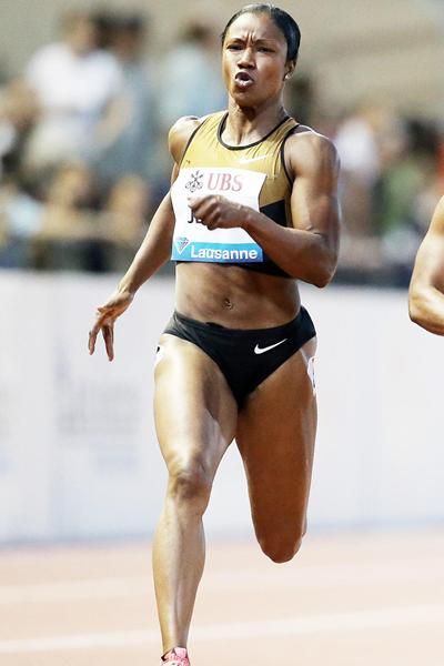 Another Diamond League victory for Carmelita Jeter, this time in Lausanne (Gladys Chai van der Laage)