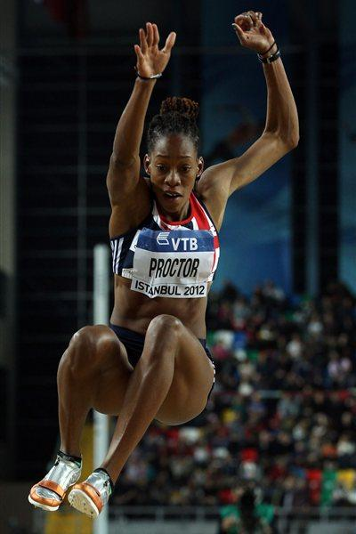 Shara Proctor of Great Britain competes in the Women's Long Jump Final during day three - WIC Istanbul (Getty Images)