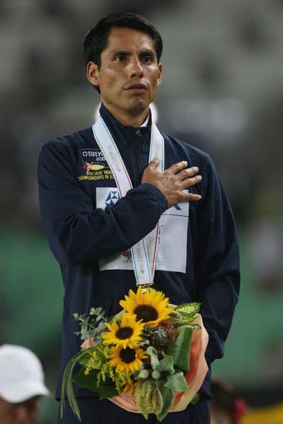 Jefferson Perez of Ecuador - 20km Race Walk gold medallist (Getty Images)