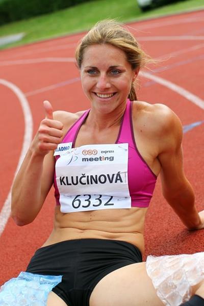 Eliska Klucinova at the 2014 TNT Express meeting in Kladno, Czech Republic ( Jan Kucharcik)