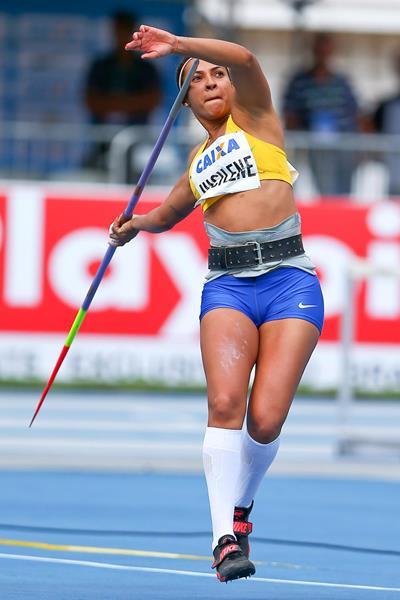 Jucilene de Lima on her way to setting a Brazilian record in Belem (Wagner Carmo/CBAt)