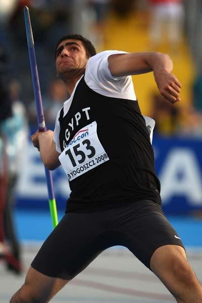 Ihab Al Sayed Abdelrahman of Egypt competes in the Men's Javelin Final (Getty Images)