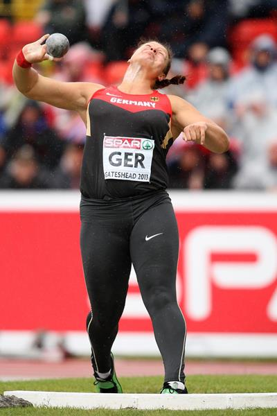 Christina Schwanitz, winner of the Shot at the 2013 European Team Championships (Getty Images)